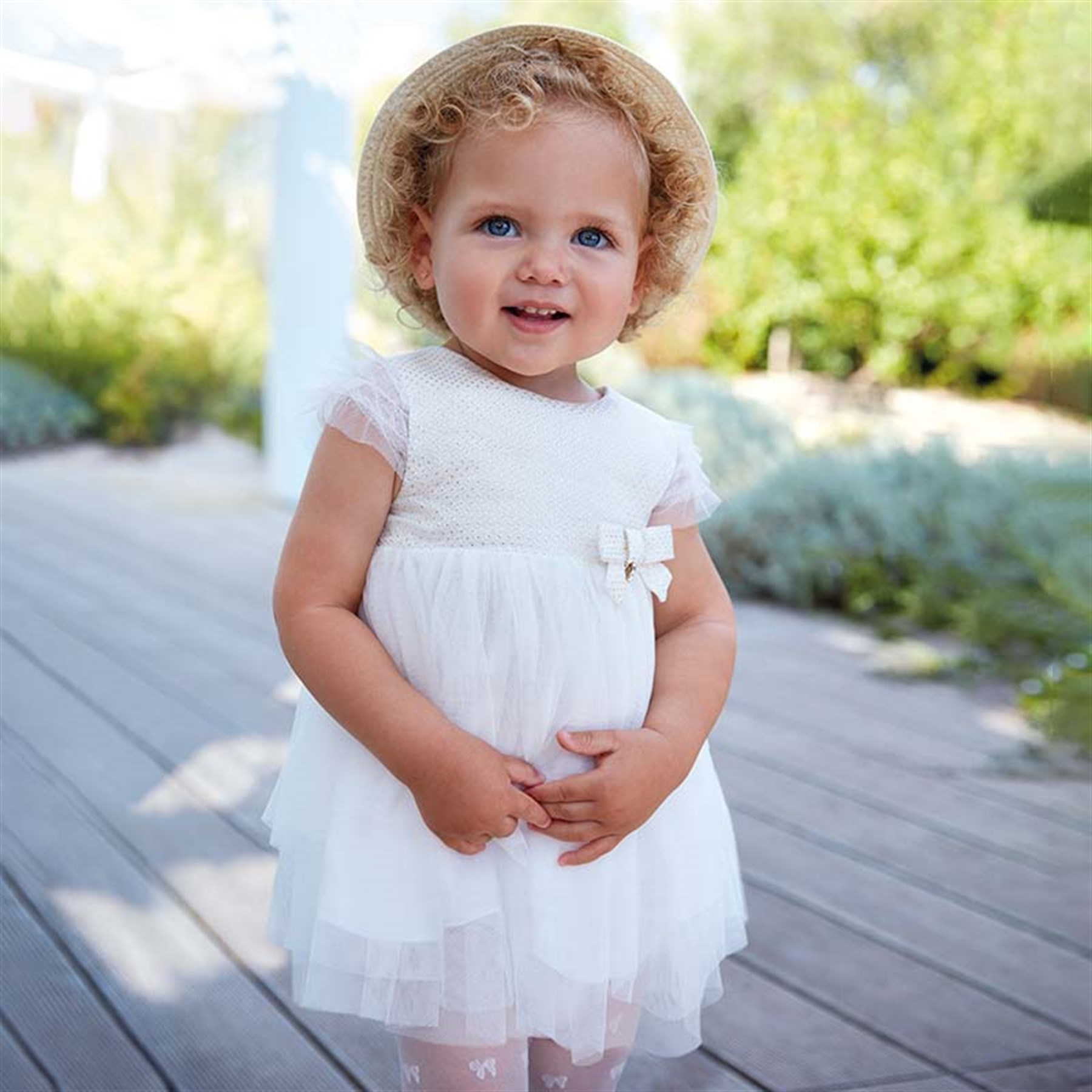 4cd7a824193 0-36 Months Mayoral Flared tulle dress for baby girl | Cslkids.com