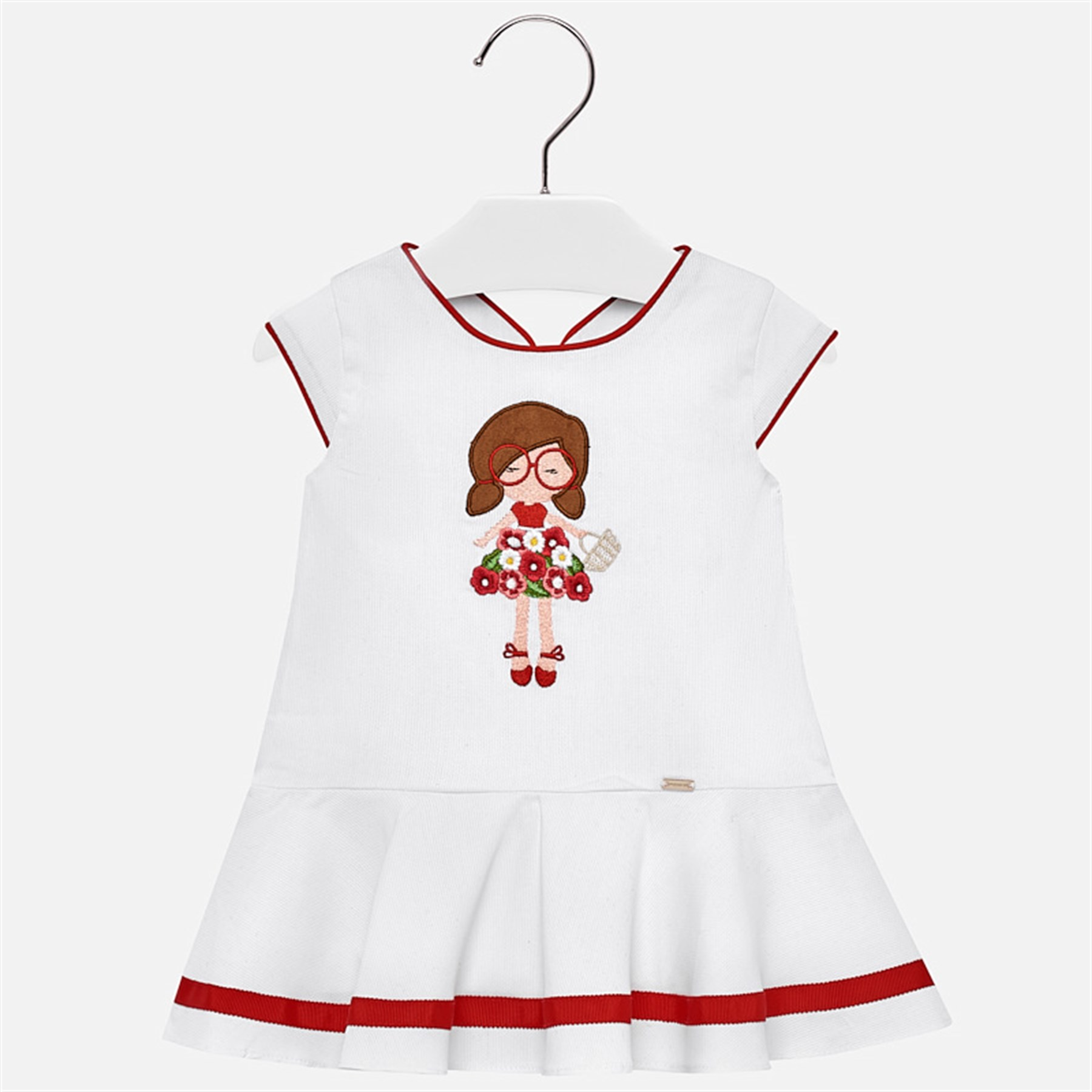 72e20ef0f Mayoral Low waist embroidered dress for baby girl