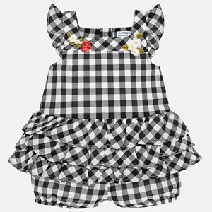0-36 Months Mayoral Gingham romper for baby girl