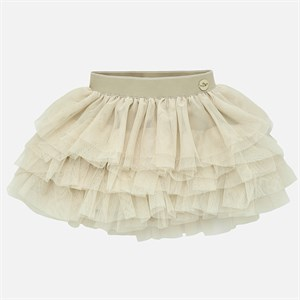 0-36 Months Mayoral Asymmetric ruffle skirt for baby girl