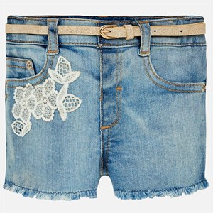 0-36 Months Mayoral Denim shorts for baby girl