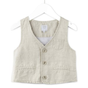 2-7 Years Linen Vest For Boy