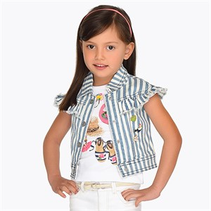 2-9 Years Mayoral Striped vest with tags for girl