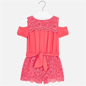 2-9 Years Mayoral Short lace playsuit