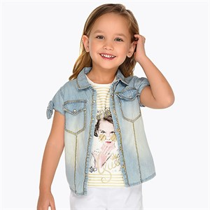 2-9 Years Mayoral denim blouse for girl