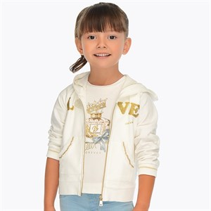 2-9 Years Mayoral Love hoodie sweatshirt for girl