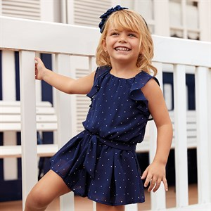 2-9 Years Mayoral Chiffon play suit with studs for girl
