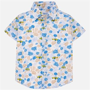 Mayoral printed short sleeved shirt for Baby Boy