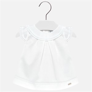 Mayoral Pleated blouse for baby girl