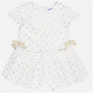 Mayoral Polka dot playsuit for baby girl