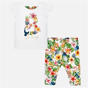 Mayoral Tropical t-shirt and leggings set for baby