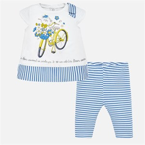 Mayoral Striped t-shirt and leggings set for baby