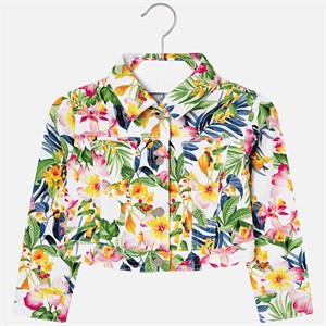 Mayoral Tropical patterned jacket for girl