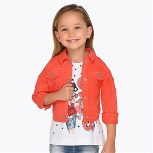 Mayoral Washed effect jacket for girl