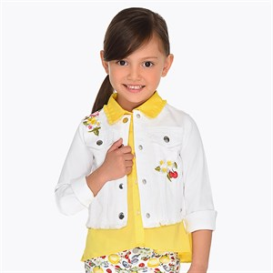 Mayoral Embroidered flowers jacket for girl