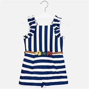 Mayoral KStriped play suit with belt for girl