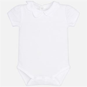 Mayoral Short sleeved collared bodysuit for
